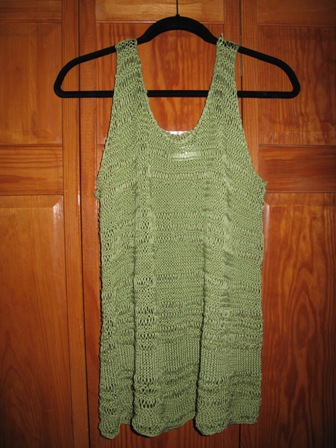 my wasabi green cotton summer tank